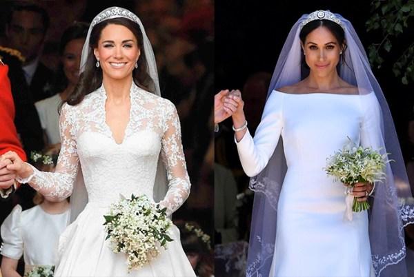 Меган Маркл и Кейт Миддлтон: чье свадебное платье лучше ...