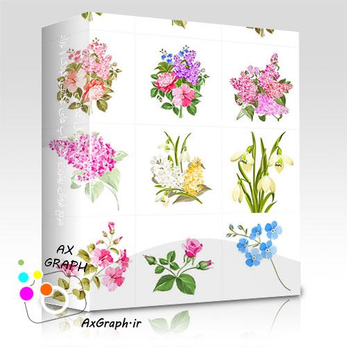 دانلود وکتور گلهای بهاری-کد 1005