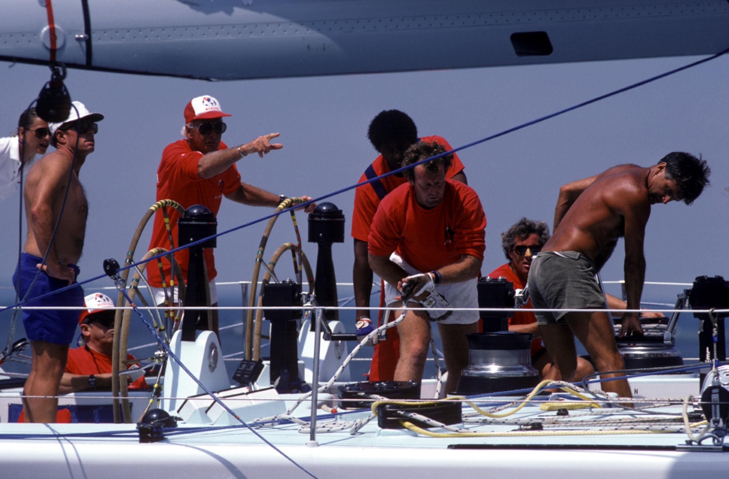 1980s, Kialoa V crew