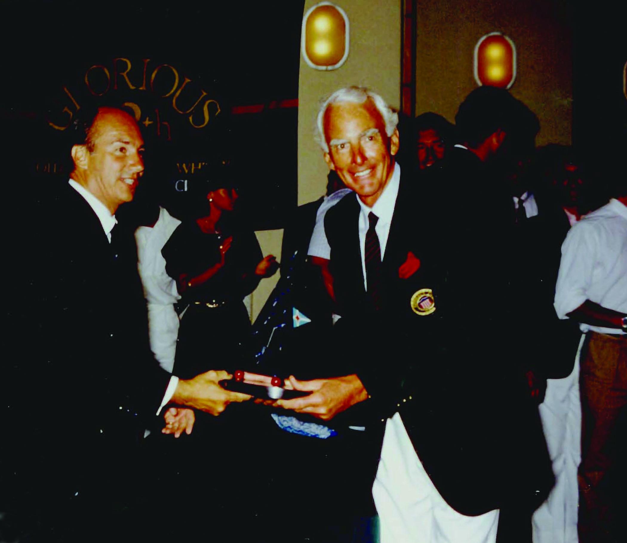 Aga Khan and Jim Kilroy, 1980s