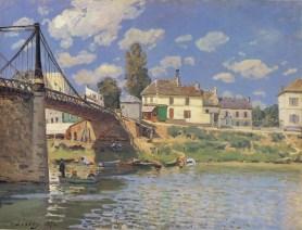 Alfred Sisley, Bridge at Villeneuve-la-Garenne, 1872