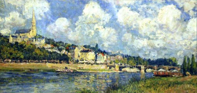 Alfred Sisley, The River at Saint Cloud 1870s