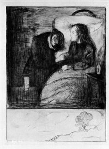 Edvard Munch, The Sick Child, 1895 (drypoint)