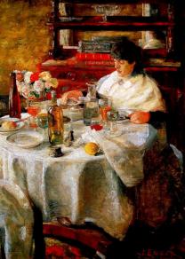 James Ensor, The Oyster Eater, 1882