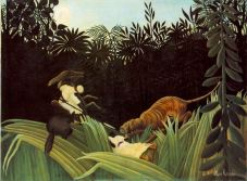 Henri Rousseau, Scout attacked by a Tiger, 1904
