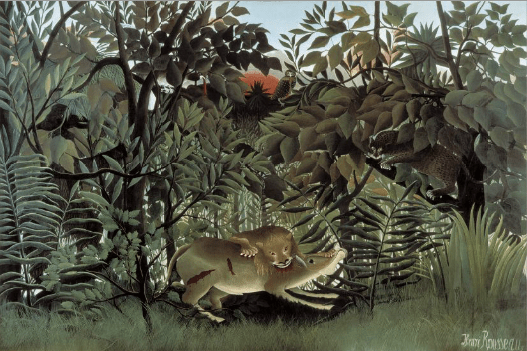Henri Rousseau, The Hungry Lion Throws itself on the Antelope, 1905