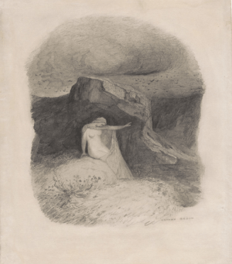 Odilon Redon, Woman with Outstretched Arm c 1868