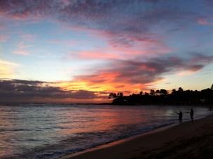 Nothing beats a Hawaiian beach sunset
