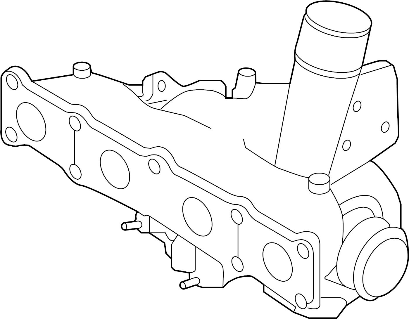 Kia Sportage Exhaust Manifold Turbocharger Liter
