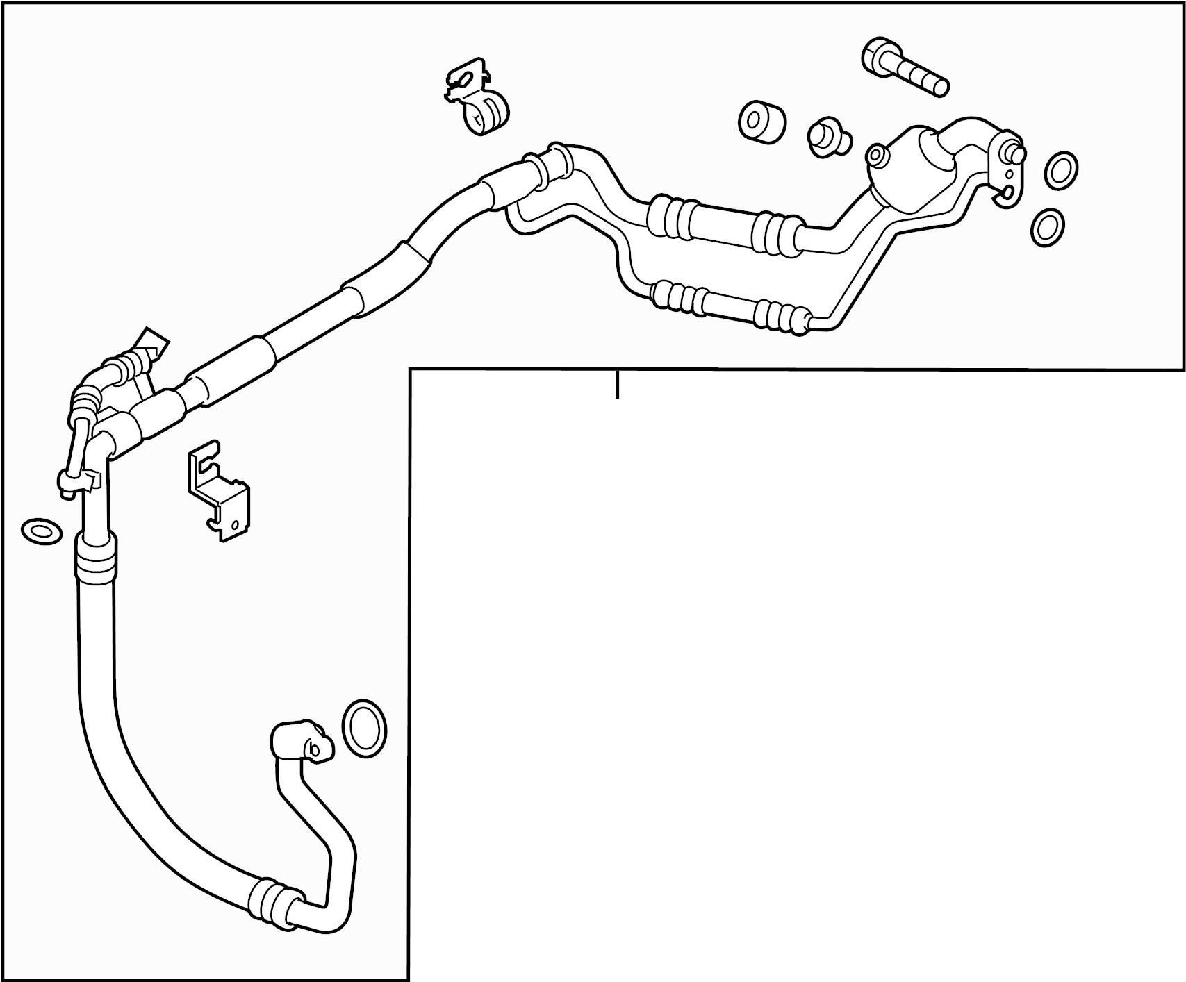 Kia Forte Suction Tube Hose And A C Liquid