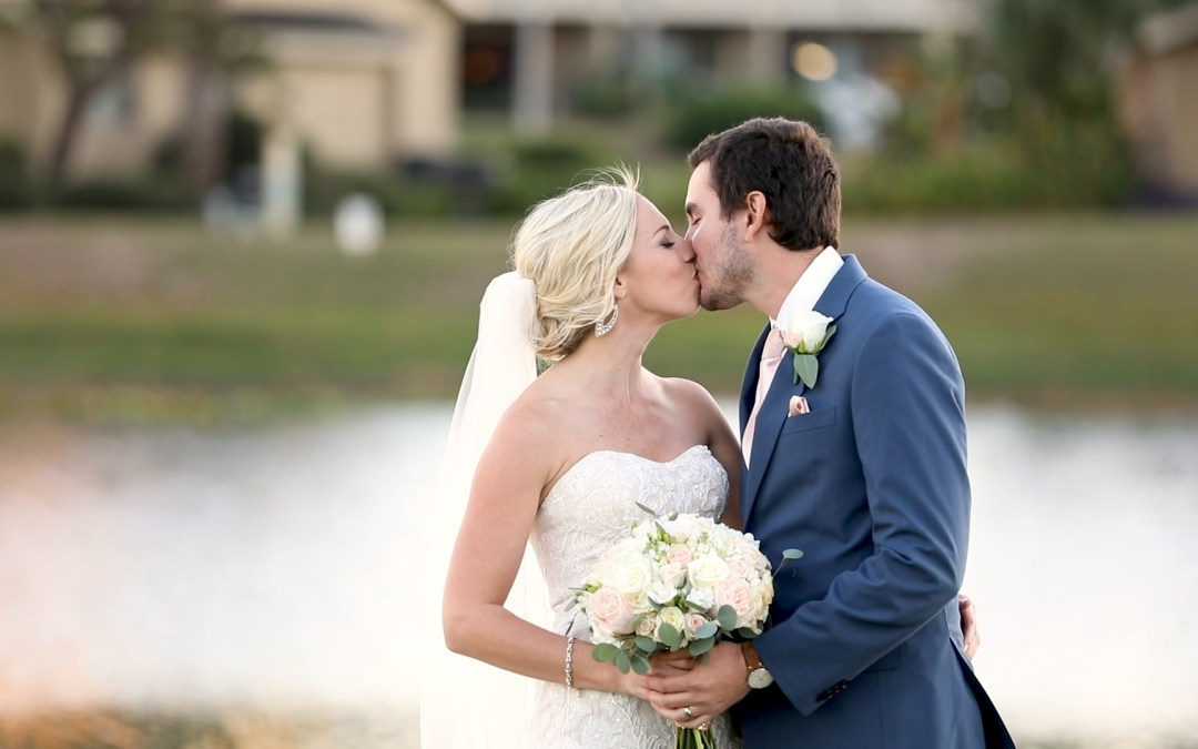 bride and groom portrait at Seascape Resort in Destin, Florida