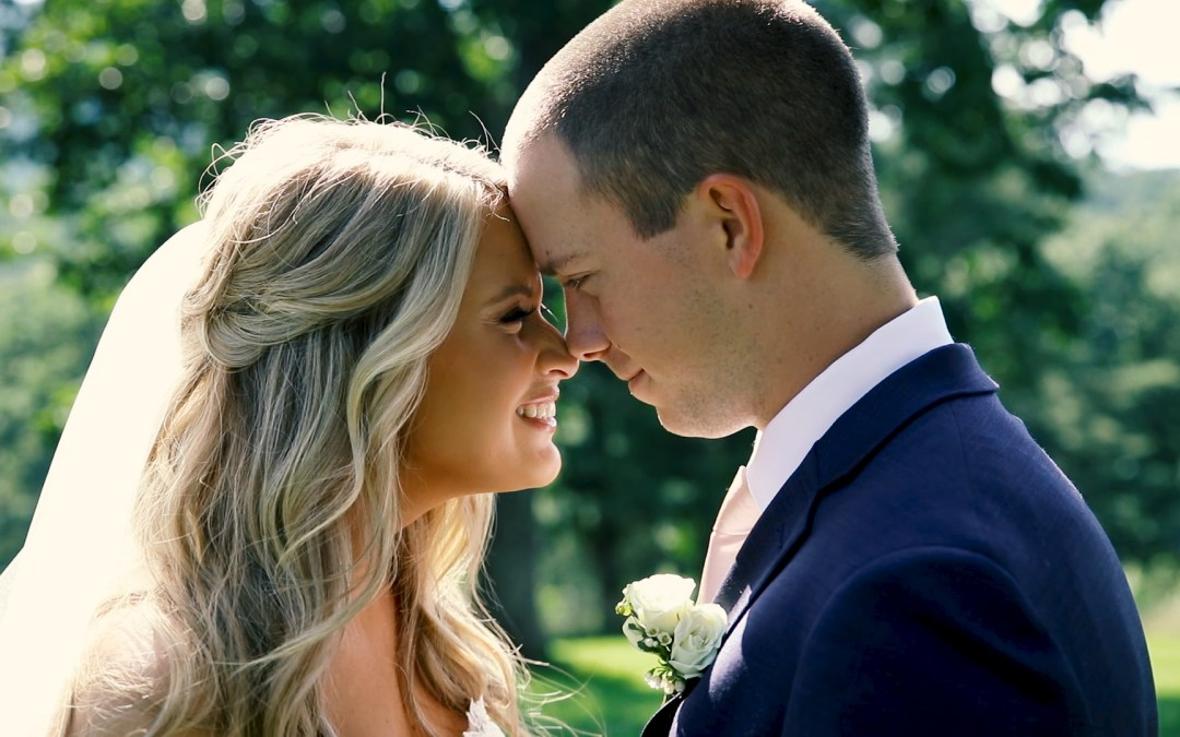 bride and groom portraits at White Oaks Barn