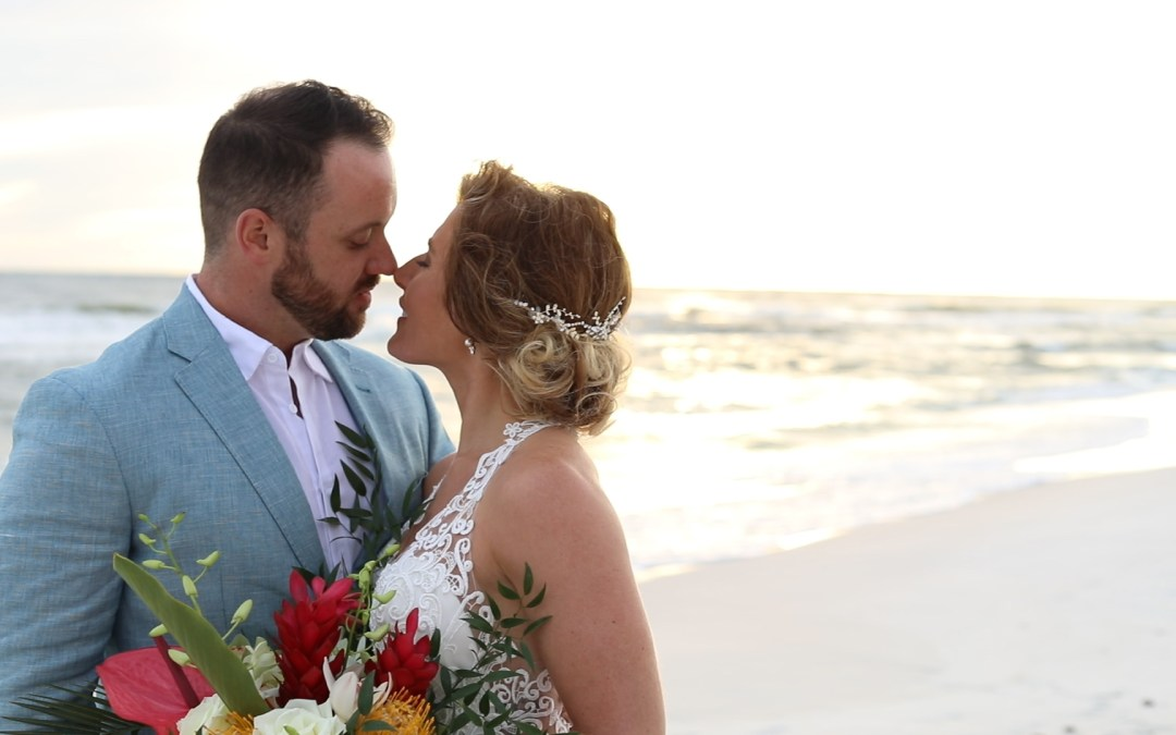 bride and groom portraits on Destin beach