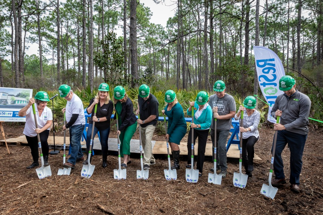 non-profit capital campaign and groundbreaking event for Habitat for Humanity
