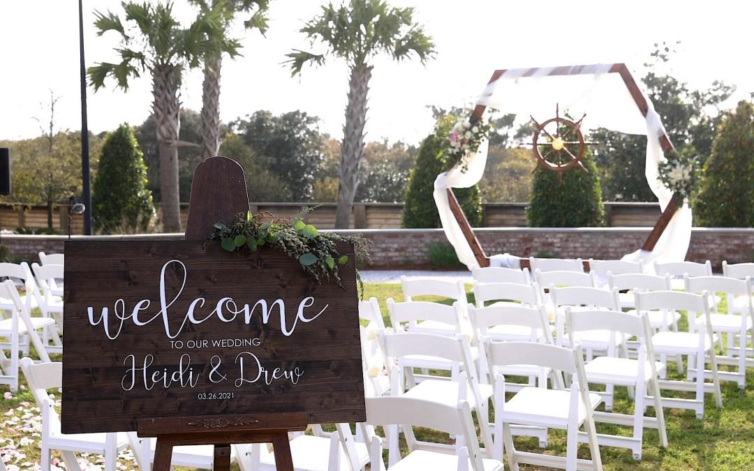 Henderson wedding ceremony set up