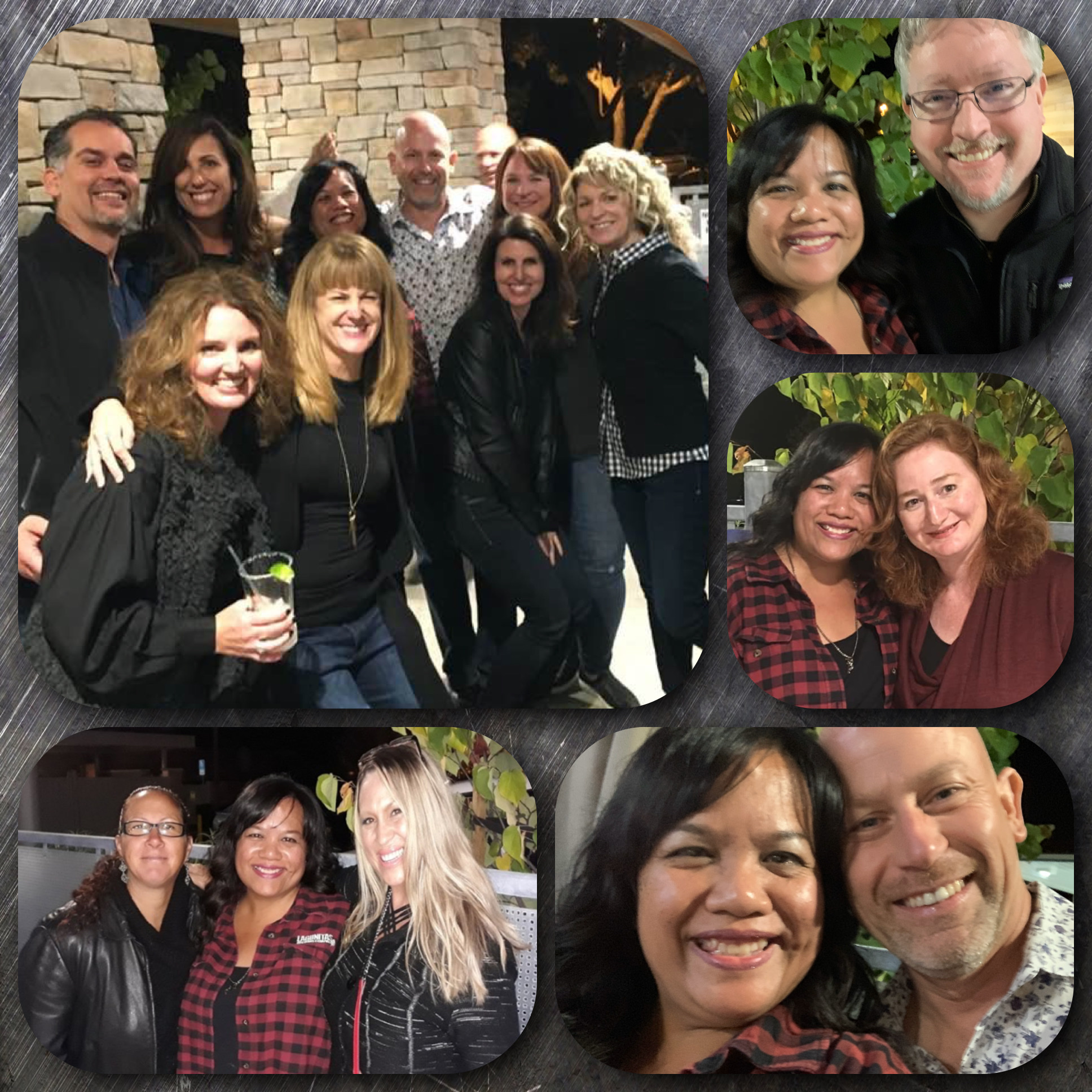 collage of HS reunion photos