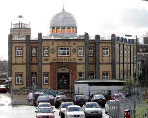 Medina Mosque. GV, exterior, general view, stock.
