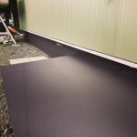 土間防水塗装作業