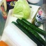 野菜とディップソース