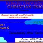 Second Years Class Fellowship Nomination 31/01/2021