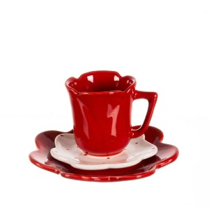 CANECA FLOR 2 PIRES (DECORADA) 180ml
