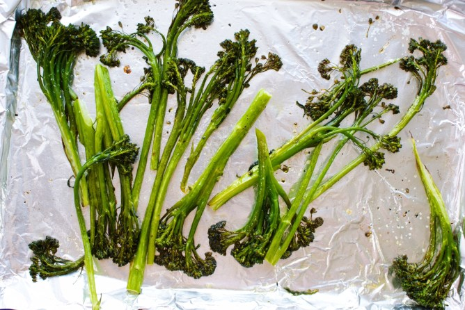 Roasting Broccolini