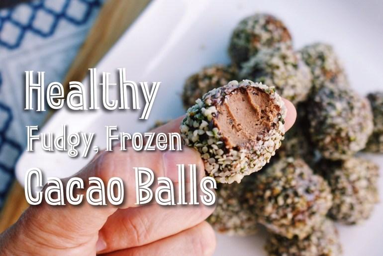 Healthy Frozen Cacao Balls