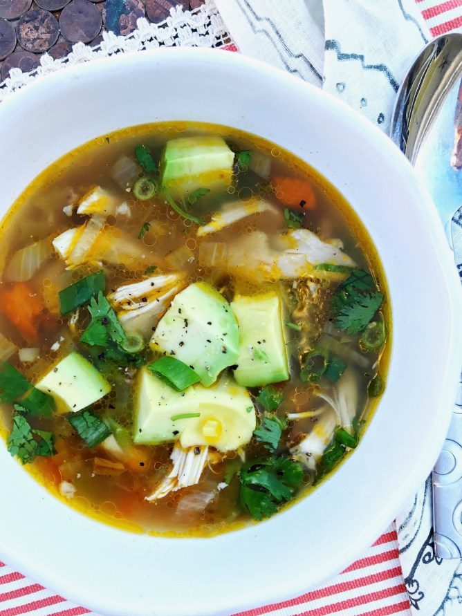 Roasted Green Chile Chicken Soup