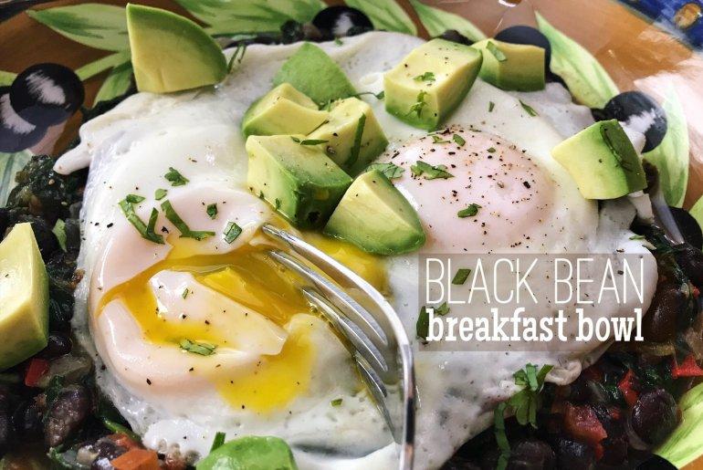 Black bean breakfast bowl