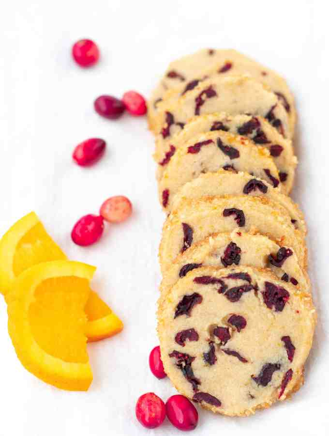 Cranberry Orange Shortbread Cookies | kickassbaker.com #cranberryorgance #orangecranberry #holidaycookies #christmas #cookies #holidays #cookieexchange