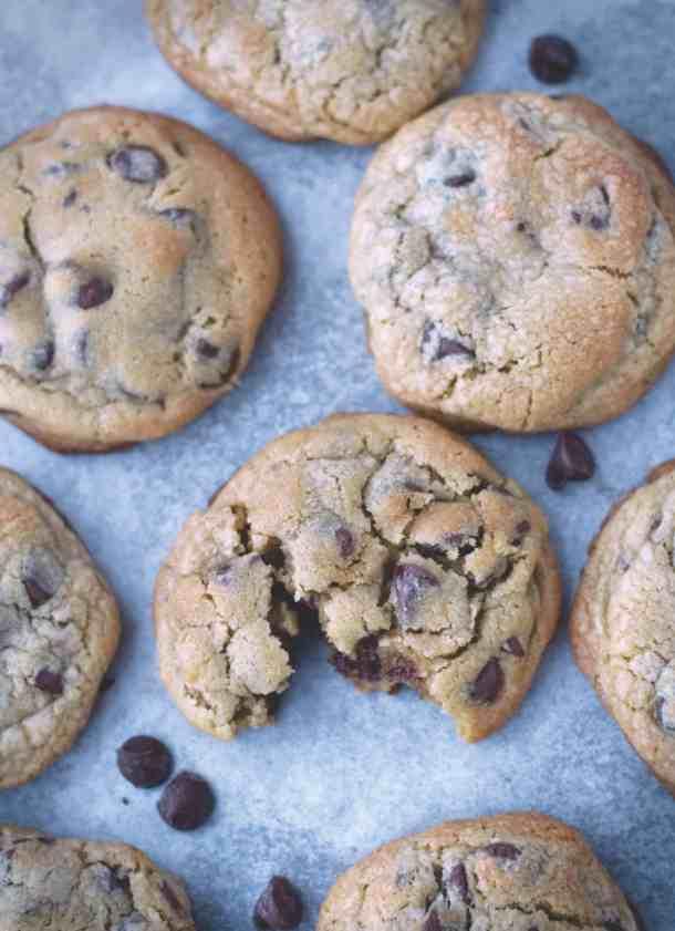 Chocolate Chip Cookies | kickassbaker.com #chocolatechipcookies #cookies #chocolate #levain #copycat #thickcookies #nestle #kickassbaker
