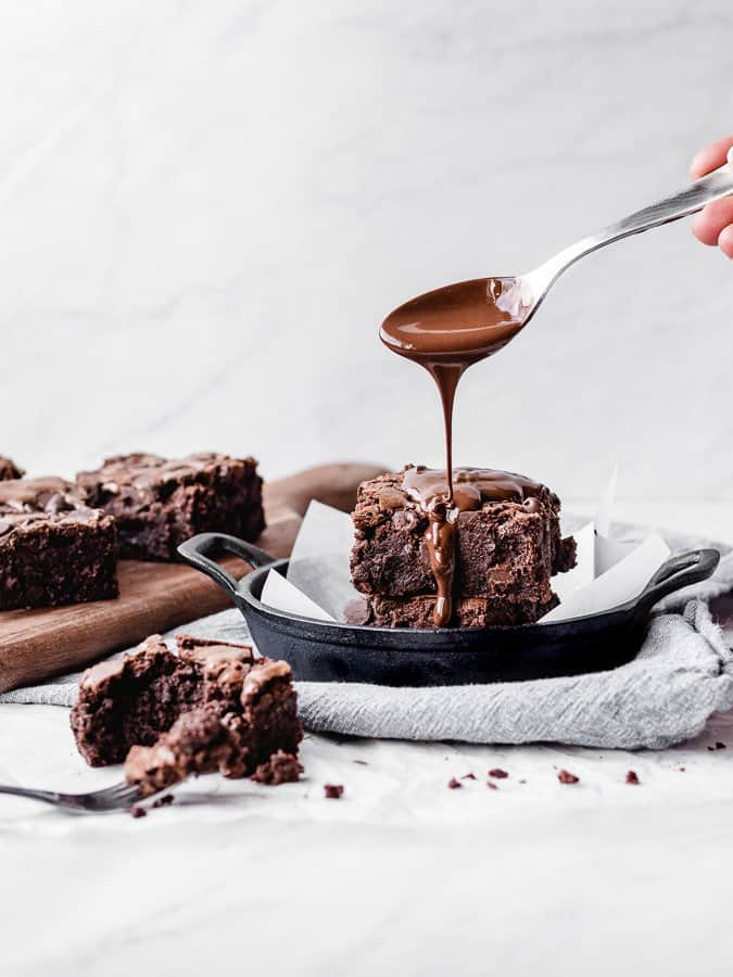 Kickass Brownies | kickassbaker.com #kickassbaker #brownies #fudgy #chocolate #dessert #decadent #thick