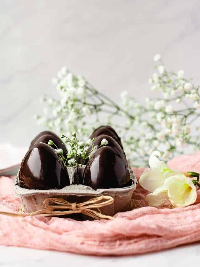 Paleo Creme Eggs   kickassbaker.com #easter #candy #cadbury #cremeeggs #creameggs #chocolate #paleo #paleorecipes #paleolife #glutenfree #nutfree #dairyfree #kickassbaker
