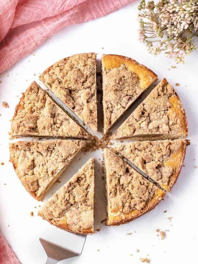 Double Crumb Crumb Cake   kickassbaker.com #crumbcake #easyrecipe #easyrecipes #coffeecake #breakfast #dessert #nutfree #peanutfree #nonuts #cinnamon #newyork #brunch#topping #bestrecipe