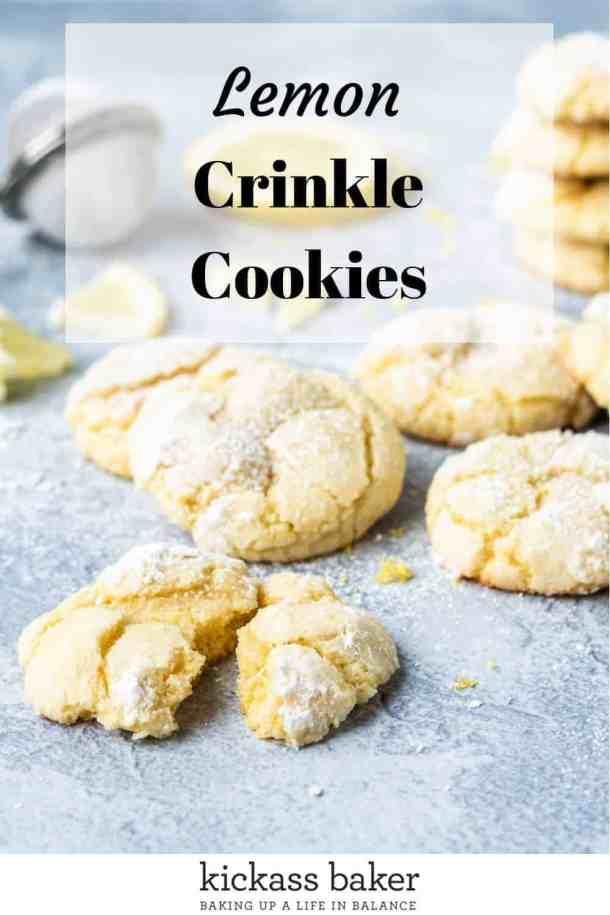 Lemon Crinkle Cookies | kickassbaker.com