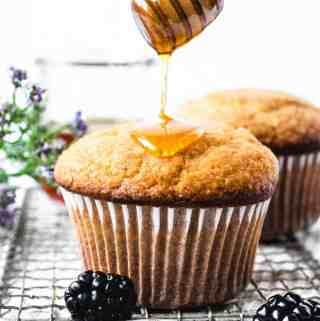 Honey Corn Muffins | kickassbaker.com pin for Pinterest