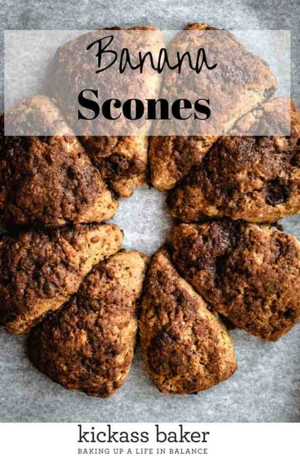 Banana Scones pin for pintrest with text overlay