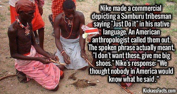 1256 Samburu tribesman Nike