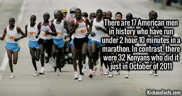 1316 Kenyan Tribe Marathon Running