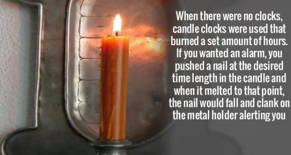 696Candle Clock