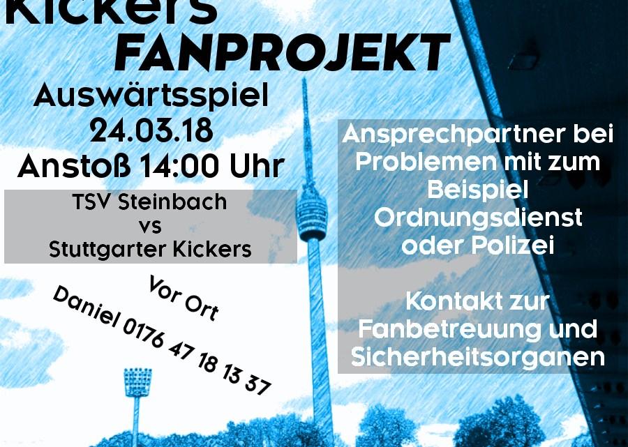 Auswärtsspiel am Samstag, 24.03.2018, um 14 Uhr gegenTSV Steinbach 1921 e.V.