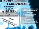 Heimspiel am Samstag, 16.03.2019, um 14 Uhr gegen Neckarsulmer Sport-Union