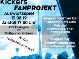 Auswärtsspiel (Nachholspiel) am Dienstag, 13.08.2019, um 17:30 Uhr gegen TSV Essingen (wfv-Pokal)
