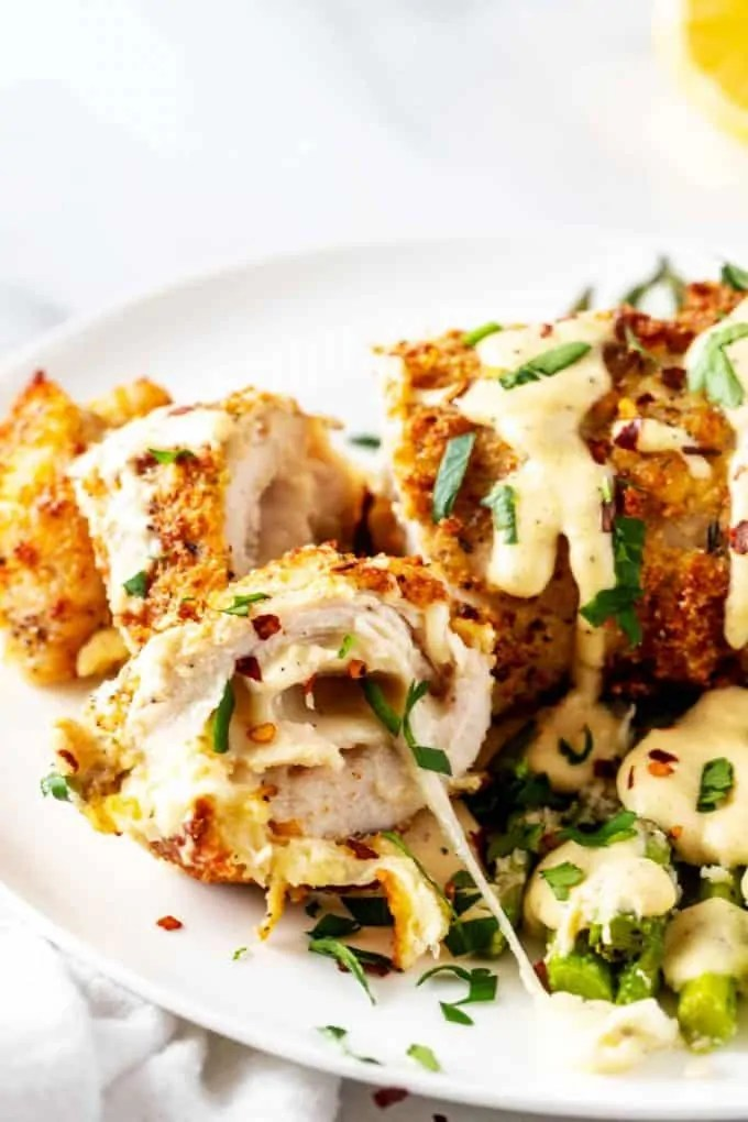 Keto Air Fryer Chicken Cordon Bleu