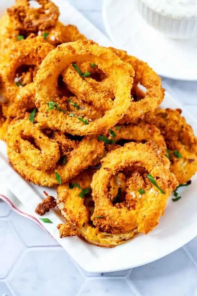 Keto Air Fryer Onion Rings