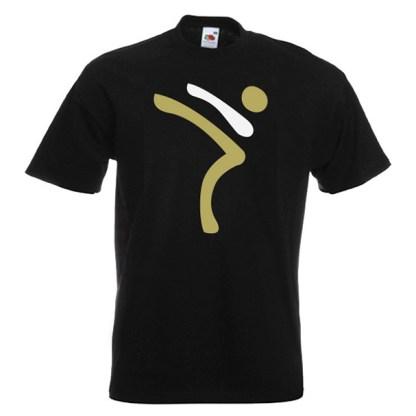 Kicking Man BIG Logo gold-and-white-on-BLACK-2R
