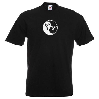 Yin Yang Martial Art T-Shirt-BLACK-7R