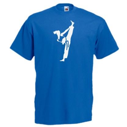 blue Female Colour Belts 4C-white-on-blue-Tshirts