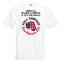 full contact taekwondo 18R-red-and-black-on-white-shirt