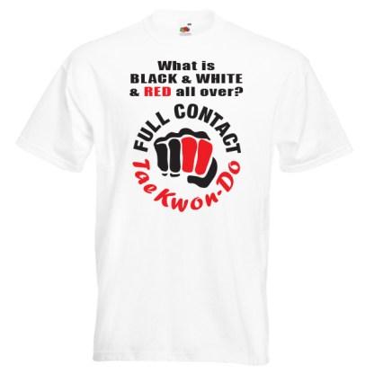 full contact taekwondo 18R-red-and-black-on-white-shirt